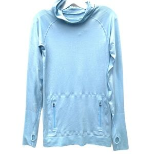 LULULEMON long sleeve hood shirt 6 top blue
